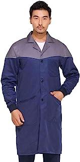 Freahap 男式商店机械师专业科学实验室外套夹克长袖口袋
