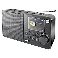 Dual DAB 18 C 數字收音機(FM / DAB(+)調諧器,發送存儲功能,7.1 厘米(2.8 英寸)TFT 彩色顯示屏,耳機插孔)黑色