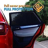 通用汽车遮阳窗婴儿墨镜套适用于后侧 window| provides * UV Protect for YOUR 婴儿儿童 | 易于安装 | 适合所有汽车型号99%) 和 suvs | 2包 + 旅行 EBOOK include 黑色 Universal
