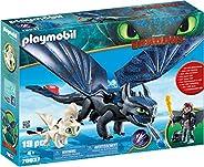 PLAYMOBIL 摩比世界 驯龙高手3:隐秘的世界,如何与Baby Dragon一起训练Dragon III小嗝嗝(Hiccup)和无牙仔(Toothless)
