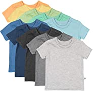 The Honest Company 儿童*棉短袖 T 恤多件装 10-pack Rainbow Boy 2T