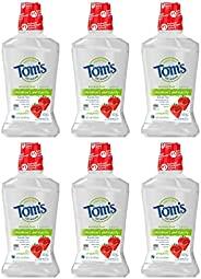 Tom's of Maine 儿童防蛀含氟漱口水 草莓味,16 盎司(473ml)