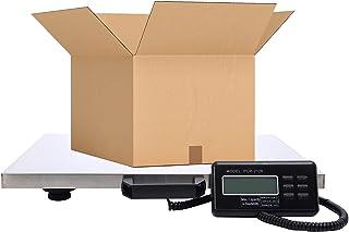 Houseables 数字邮政秤 重型运输 55.88 厘米 x 45.72 厘米 不锈钢顶部 400 磅 *大重量 LED 显示屏 便携 适用于包装、动物、产品、工业、电子、平台