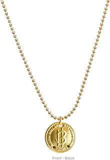 MilliON DOLLAR BABY CLUB 北欧金硬币黑色钻石项链带球链