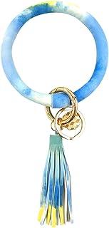 钥匙扣 手镯 手镯 钥匙包 圆形钥匙圈 带链手链 钥匙链 带大流苏 女式 女孩