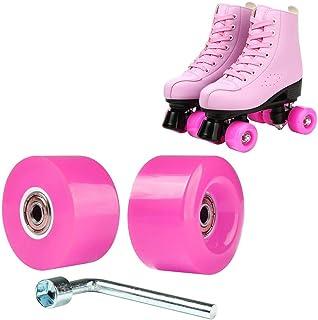 Hurber 轮滑轮发光发光 ABEC-7 32x58mm 轴承安装 2 件装,适用于滑冰和滑板