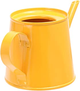 Cabilock 迷你洒水壶 可爱铁浇水壶 植物浇灌盆长喷水罐 适合儿童 多肉盆景花园花(黄色)