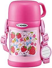 ZOJIRUSHI 水杯 两用式 不锈钢保温杯 吸管&杯盖 儿童水杯 450ml 粉红色 SC-ZT4