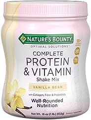 Nature's Bounty 自然之宝 Optimal Solutions 蛋白质奶昔香草味,16盎司每罐(约453.7克),蛋白质和维生素复合奶昔,为女士设计,