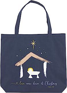 Baby Jesus Love Came Down at Christmas *蓝手提袋,14 1/2 英寸