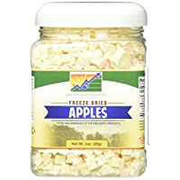 Mother Earth Products Freeze Dried Apples, Net Wt 3oz (85g)