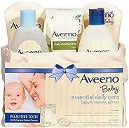 Aveeno 艾惟诺 婴儿基础日用护理 宝宝&妈妈礼品套装,具有多种护肤和沐浴产品,可滋养婴儿和呵护妈妈,为新妈妈和准妈妈提供婴儿礼