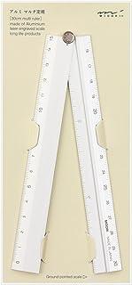 Midori Aluminium 折疊尺 30cm 銀色