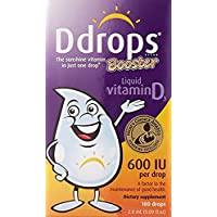 Ddrops Booster 600 IU 滴,100 滴滴 3Pack(2.8 ml Each) 3.00