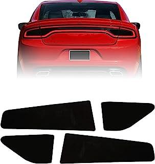 DLOVEG 尾灯贴膜套件兼容 2015-2021 Dodge Charger 预裁覆盖乙烯基烟熏黑尾灯贴膜兼容充电器