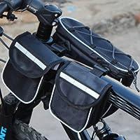 炫舞 (JAT)新款大号自行车子母包 前上管包 马鞍包 四合一车前包 骑行手机包 双边车包 颜色可选
