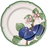 Villeroy & Boch 10 – 4247 – 2622 法式花园现代水果餐盘 梅子,26 厘米,优质瓷器,白色…