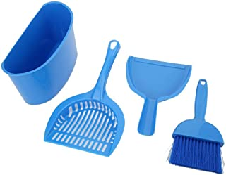Pssopp 4 件猫砂铲 SPlastic 手持猫砂勺猫砂筛尘桶套装宠物猫厕所清洁套件(4 件)