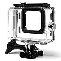 GoPro Hero 9 水下外壳,防护潜水外壳,40米带支架防水外壳,适用于 GoPro HERO9 黑色运动相机