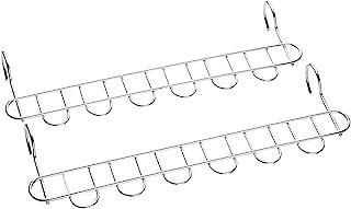 下村企販 日本制造 衣架 晾衣架 防单侧偏沉 不锈钢 细长衣架 6连 2个装 15064
