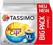 Tassimo 晨咖啡馆 XL 温和光滑,大包装 5 个咖啡胶囊(5 x 21 杯饮料)