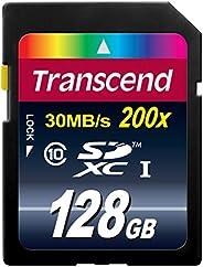 Transcend 8 GB Class 10 SDHC 闪存卡 蓝色 128GB