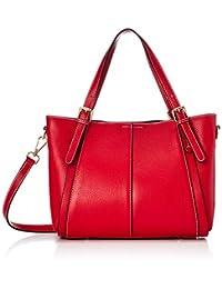 IDADIE 带缝线两用真皮女士包 1835-30 红色