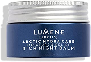 Lumene Arctic Hydra Care [Arktis] 保湿舒缓晚霜,1.7 液体盎司,无香料晚霜,适用于干性和敏感性皮肤