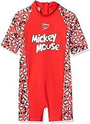 Speedo 儿童迪士尼米老鼠中性连体泳衣