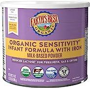 Earth's Best 低乳糖 婴儿奶粉, Omega-3 DHA & Omega-6 ARA, 23.2 Ou