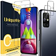[2+2 件装] UniqueMe 相机镜头保护膜和屏幕保护膜,适用于三星 Galaxy M51 Termperd Glass [易于安装框架]高清清晰[防刮]