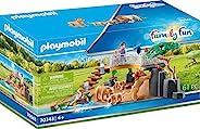 Playmobil 摩比世界 户外狮子防护栏玩具,彩色,34.8 x 12.0 x 18.7厘米