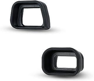 JJC 2 类型 FDA-EP10 取景器眼罩 适用于 Sony 索尼 A6300 A6100 A6000,柔软长设计 + 原装眼影替换件