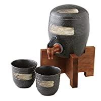 爱尔奈特 厨房用品・餐具/酒杯・酒吧用品/烧酒杯 黑 1300cc 多用服务器套装 黑釉