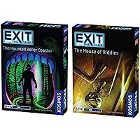 Thames & Kosmos Exit The Game 2 件套:Haunted Roller 过山车和骑士屋(2…