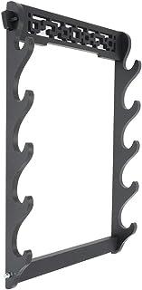 Zerobegin 剑架壁挂武士剑架展示武士剑塔娜和崎桥坦藤壁挂架木制框架架,黑色,5 层