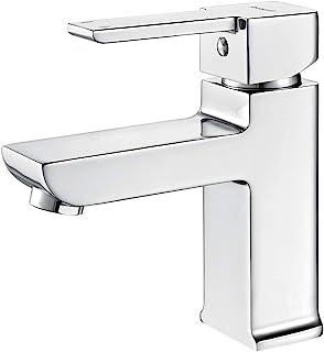 Ibergrif Gold,浴缸单杆面盆龙头,方形洗手间搅拌机,镀铬