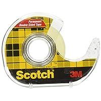 3M Scotch 双面胶带,1.27 x 500 英寸,6 个分配器/包 (6137H-2PC-MP) 透明 2 件装 S-01051