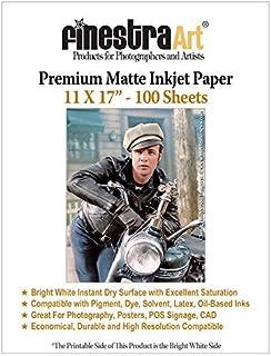 11 x 17 100 张优质哑光亮白色喷墨打印纸 230gsm