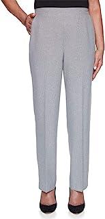 Alfred Dunner 女式 Riverside Drive 纹理长裤 - 短款