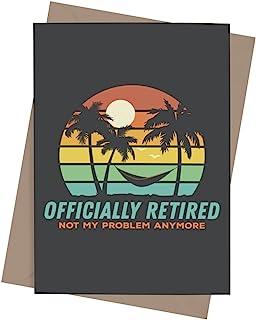 送给同事或老板的有趣退休卡,带信封 | 男女祝贺礼物 | 告别卡片适合退休的人 | 官方退休