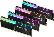 G.SKILL 128GB (4 x 32GB) TridentZ RGB 系列 DDR4 PC4-25600 3200MHz Intel XMP 2.0 台式机内存型号 F4-3200C16Q-128GTZR