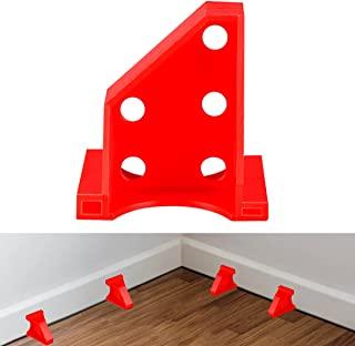 *地板垫片,层压木地板工具,兼容乙烯基板,硬木和浮地板安装等,硬木地板带 1/4 和 1/3 间隙,特殊三角固定位置(15,红色)