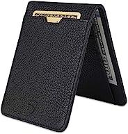 Vaultskin MANHATTAN 超薄极简主义双折钱包和信用卡夹,带 RFID 屏蔽,非常适合前口袋