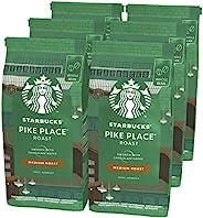 STARBUCKS 星巴克 PIKE PLACE Roast 全豆咖啡豆,中度烘培,(6 x 200g)