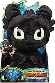 Dreamworks Dragons 无牙Squeeze和Roar长毛绒玩具,11英寸(约27.94厘米),带声音,适用于4岁及以上的孩子
