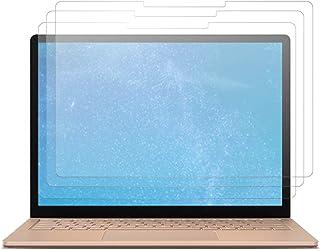 J&D 兼容 Microsoft Surface 笔记本电脑 3 屏幕保护膜,3 件装【防眩光】【防指纹】【全覆盖】哑光膜保护膜 Surface Laptop 3 保护膜