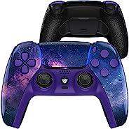 HexGaming Esports Rival 定制控制器适用于 PS5 Elite 控制器,带 2 个桨和可互换拇指棒和发夹 PC 无线游戏Gampad - 星云 Galaxy