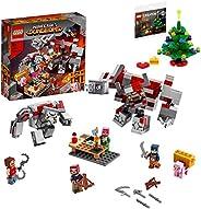 [制造商特典] LEGO 樂高 我的世界系列 紅石之戰 21163 + 附帶圣誕樹迷你套裝