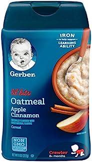 Gerber嘉宝Lil Bits Oatmeal Apple Cinnamon 谷物 8 盎司(226.80克) (6 包)